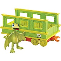 Dinosaur Train Tiny with Train Car Collectible Figure