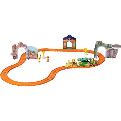 Over 100pcs Diy Assembling Building Dinosaur Track Electric Car Orbit Series Kids Christmas Gift Toy
