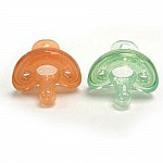 Gumdrop Infant Pacifier Green & Orange