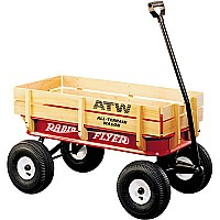 All-Terrain Steel and Wood Wagon