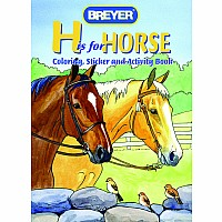 """H Is For Horse"" Coloring Book With Stickers"
