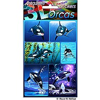 Orcas 3D Stickers