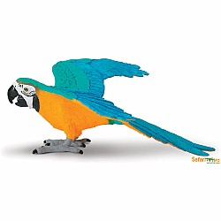 Blue and Gold Macaw Figurine