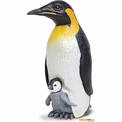 Emperor Penguin with Baby Figurine