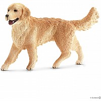 Schleich Female Golden Retriever Toy Figure