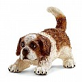 Schleich 16834 Saint Bernard Puppy Figurine, Brown & White