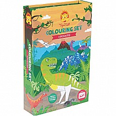 Tiger Tribe Dinosaur Coloring Set
