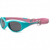 Explorer Toddler Sunglasses (Aqua/Pink)