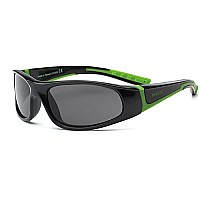 Bolt Youth Sunglasses (Black/Lime)