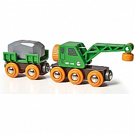 Brio Clever Crane Wagon and Vehicle