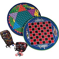Tin Chinese Checkers & Checkerboard