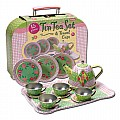 Tin Tea Set In Case