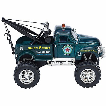Diecast Big Wheel Tow Truck