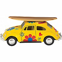 Die-cast 1967 Beetle with Surfbd