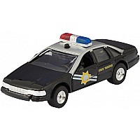 Die Cast Sonic Police Rescue Car