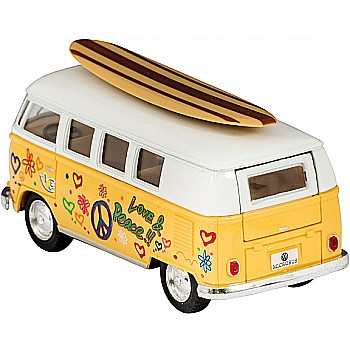 Diecast 62' Vw Bus &Surfboard