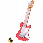 Nanoblock - Electric Guitar - Red