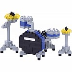Nanoblock - Drum Set - Blue