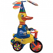 Pedaling Duck On Trike Tin Collectable