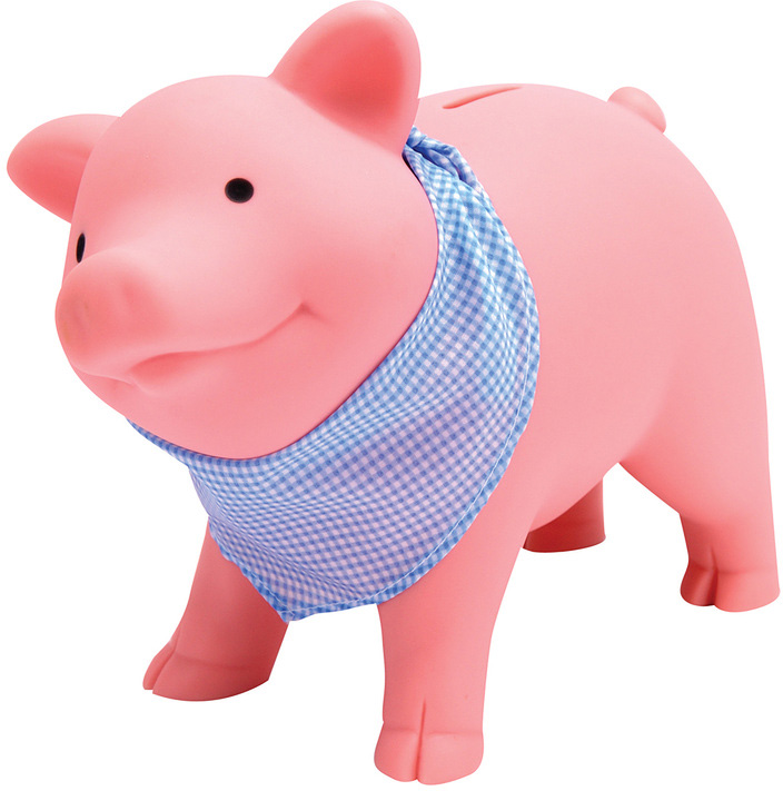 Rubber Piggy Bank Raff And Friends