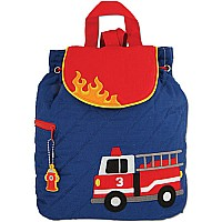 Quilted Backpack Firetruck
