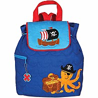 Quilted Backpack Pirate/Octopus