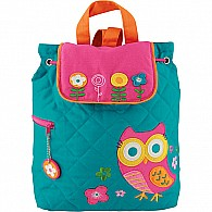 Quilted Backpack Owl - Teal