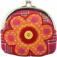 Signature Kiss Lock Purse Flower