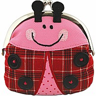 Signature Kiss Lock Purse Ladybug