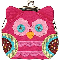 Signature Kiss Lock Purse Owl