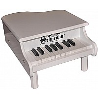 18 Key Mini Grand Piano in White