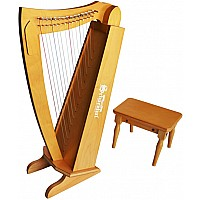 15 String Harp with bench in Cherry