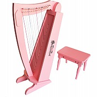 15 String Harp with bench in Pink