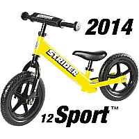 Strider 12 Sport No-Pedal Balance Bike - Yellow