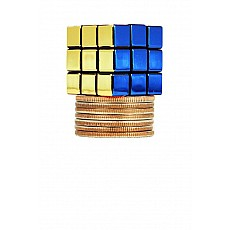 World'S Smallest 40th Anniversary Rubik- Metallic