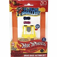 Worlds Smallest Hot Wheels Drag Race Set (Incl 2 Cars)