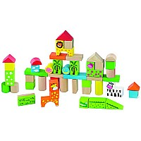 50 PC Block Set - At the Zoo
