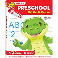 Preschool Write & Reuse Workbook