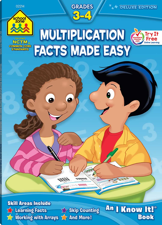 Workbooks big third grade workbook : Third Grade Workbooks - Multiplication Facts Deluxe Ed. - Fun ...