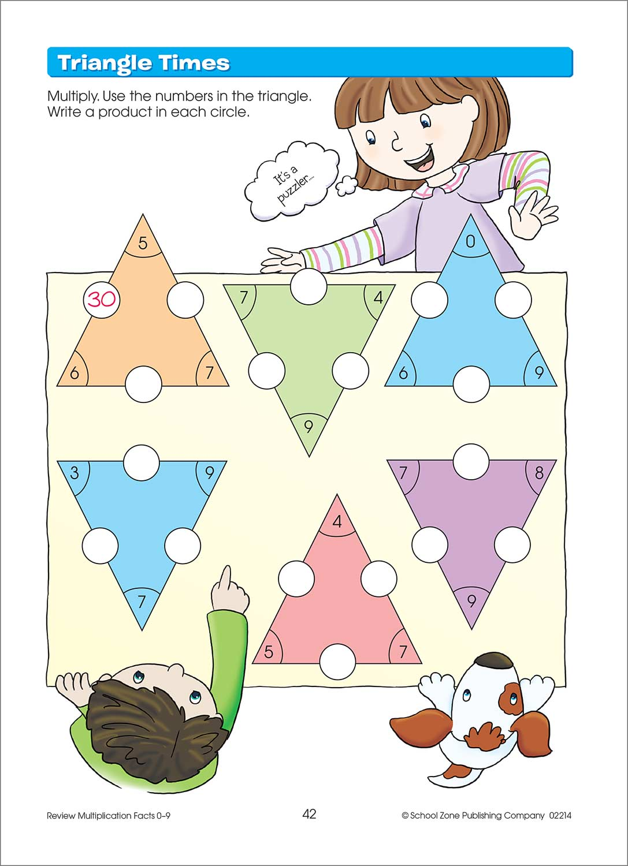 Third Grade Workbooks - Multiplication Facts Deluxe Ed. - Fun ...