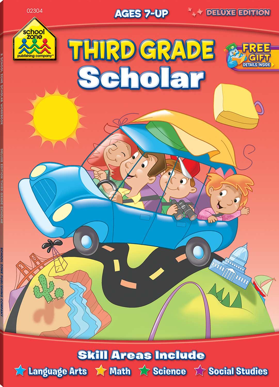 Third Grade Workbooks - Scholar Deluxe Edition - Fun Stuff Toys