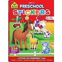 Preschool Sticker Workbook