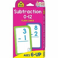 First and Second Grade | 0-12 Subtraction Flash Cards