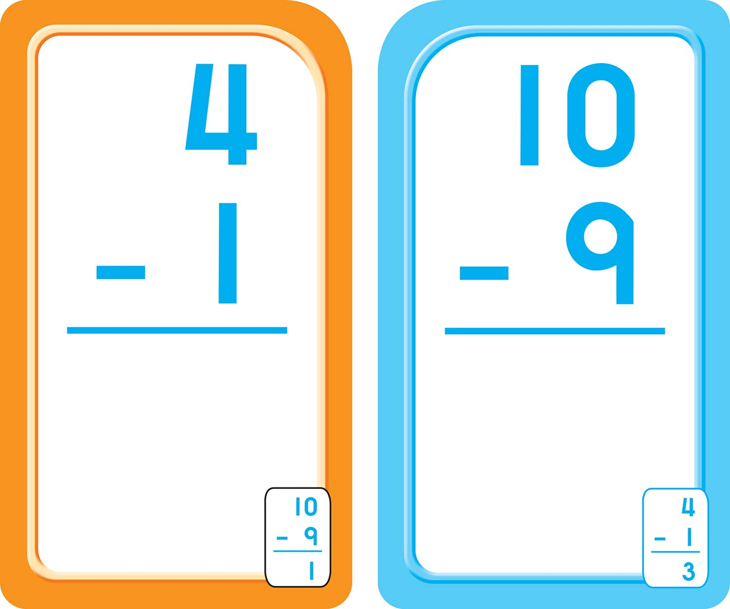 first and second grade 0 12 subtraction flash cards fun stuff toys. Black Bedroom Furniture Sets. Home Design Ideas