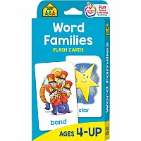 P-K, 1st and 2nd Grade | Word Families Flash Cards