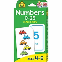 P-K | Numbers 0-25 Flash Cards