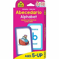 Spanish English Alphabet Flash Cards