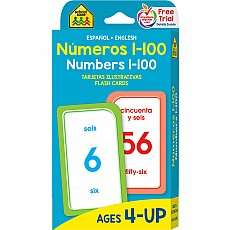 Bilingual Numbers 1-100 Flash Cards