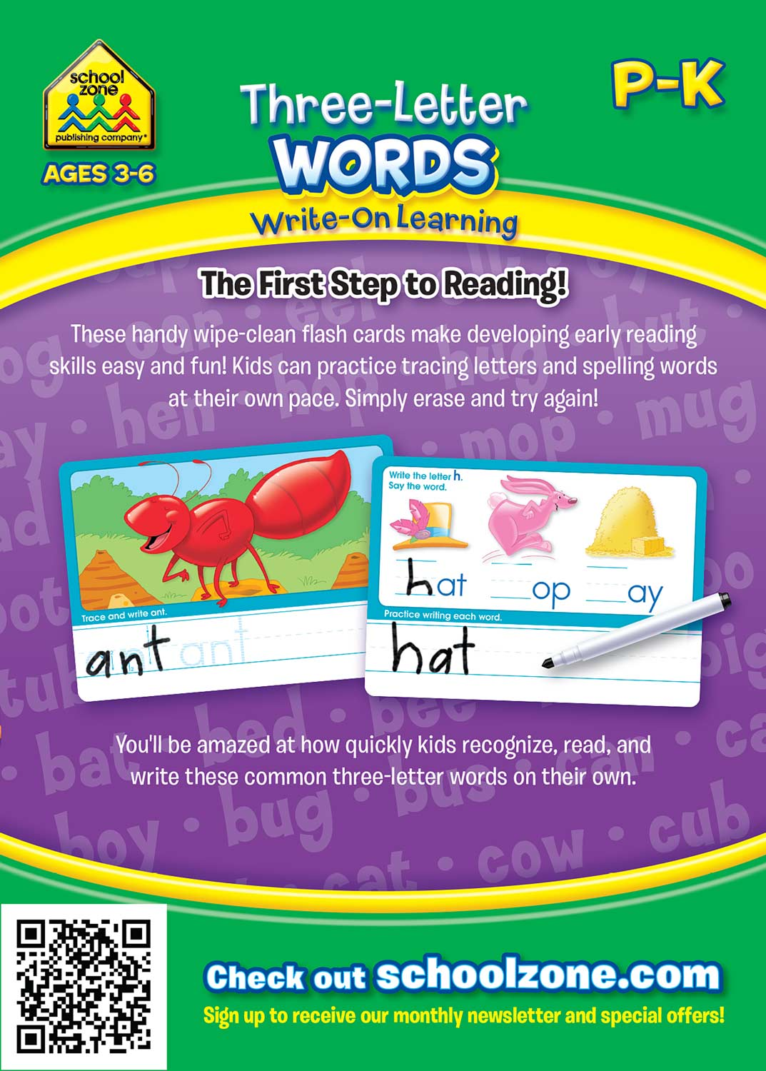 Three Letter Words Write On Learning Interactive Flash Cards Kool