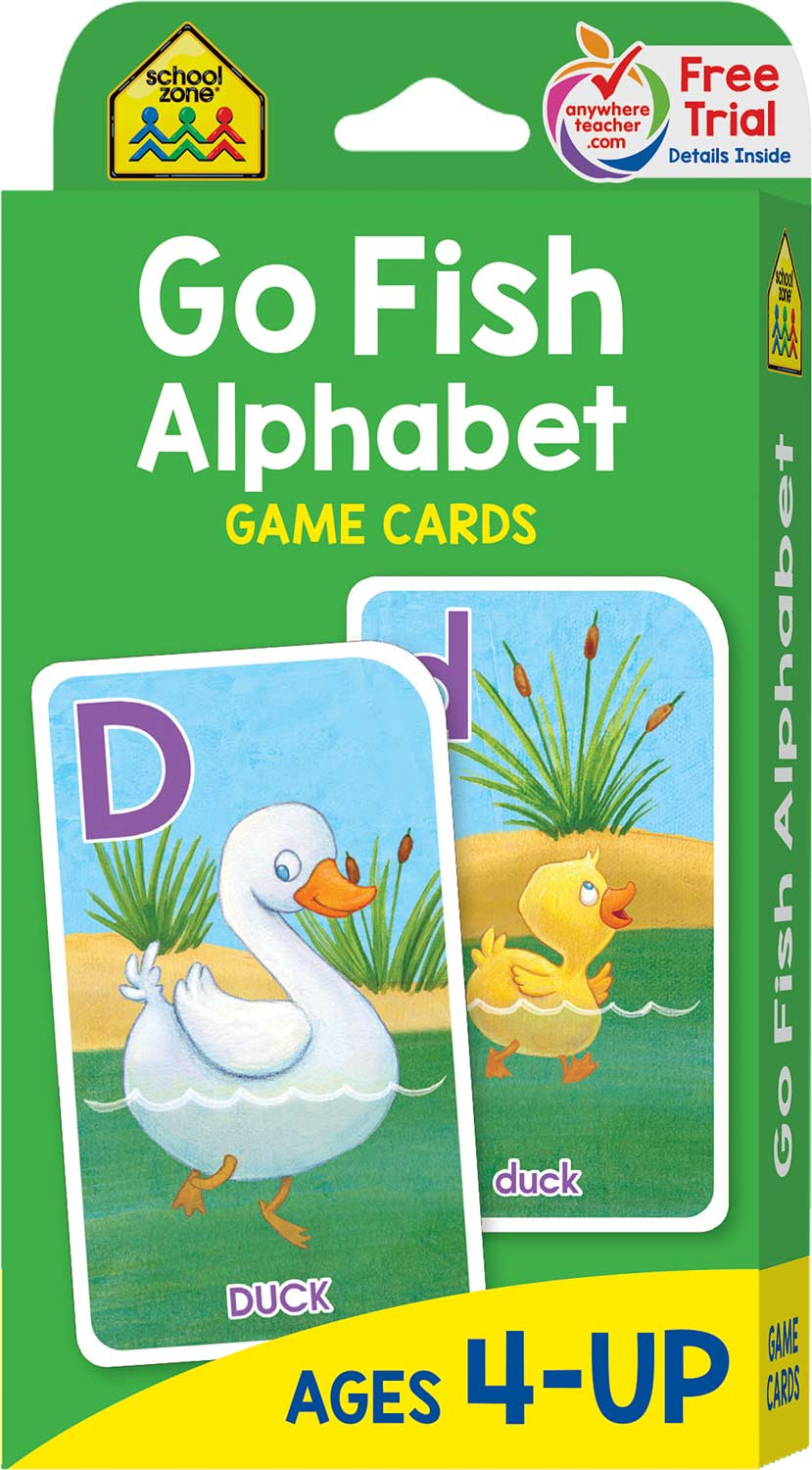 Go fish alphabet game cards kool child for Go fish games